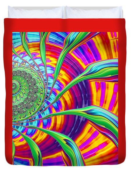 Duvet Cover featuring the photograph Rainbow Sun by Ronda Broatch