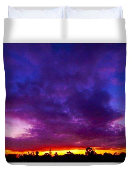 Rainbow Sunset Duvet Cover by Mark Blauhoefer