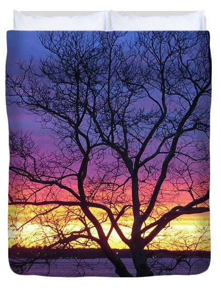 Rainbow Sunset Duvet Cover