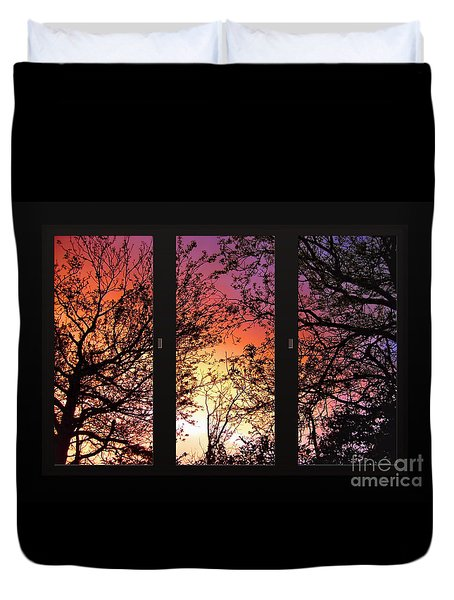 Rainbow Sunset Through Your Window Duvet Cover