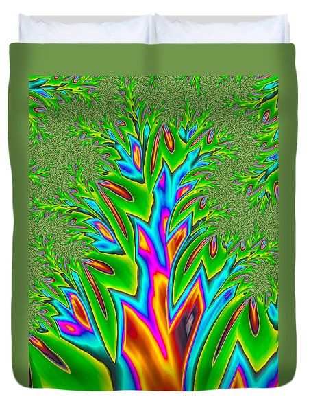 Duvet Cover featuring the photograph Rainbow Tree by Ronda Broatch