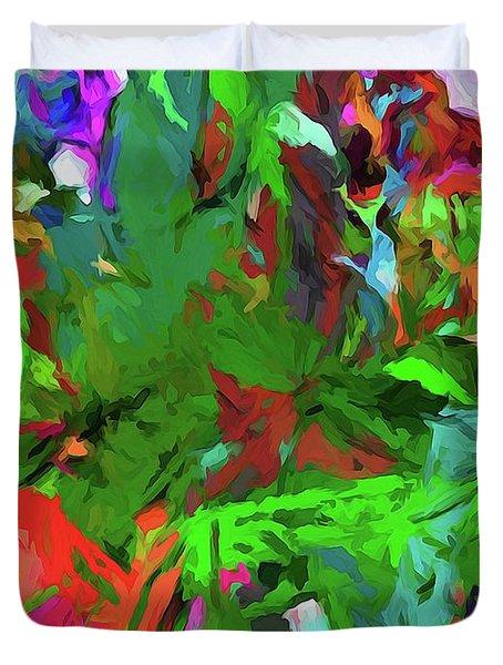 Rainbow Tropic Duvet Cover