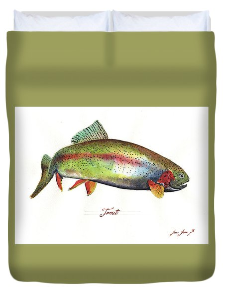 Rainbow Trout Duvet Cover
