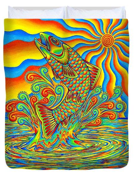 Rainbow Trout Duvet Cover