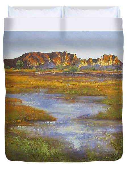Rainbow Valley Northern Territory Australia Duvet Cover by Chris Hobel