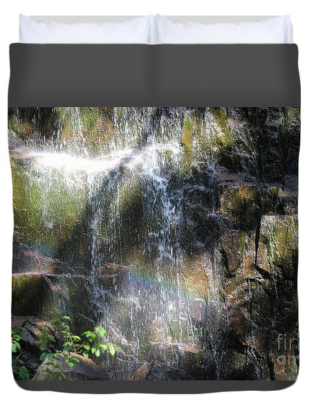 Rainbow Waterfall Duvet Cover