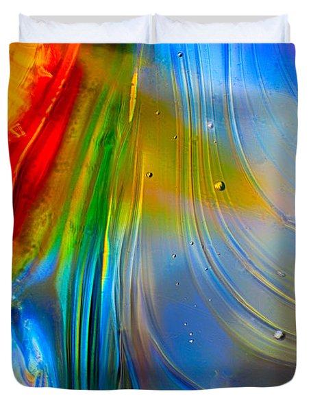 Rainbow Waterfalls Duvet Cover
