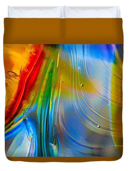 Rainbow Waterfalls Duvet Cover