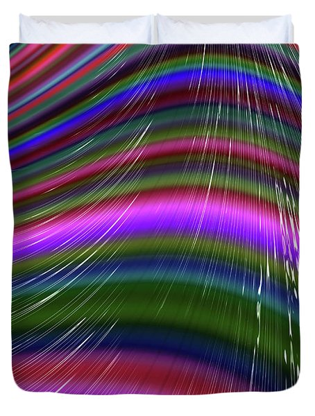 Rainbow Waves Duvet Cover