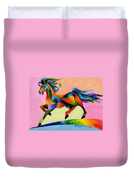 Rainbow Wind Duvet Cover