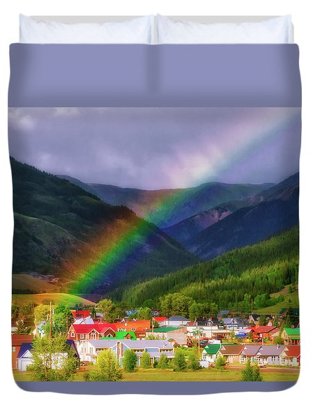 Rainbow's End Duvet Cover