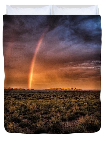 Rainbows In The Desert  ... Duvet Cover