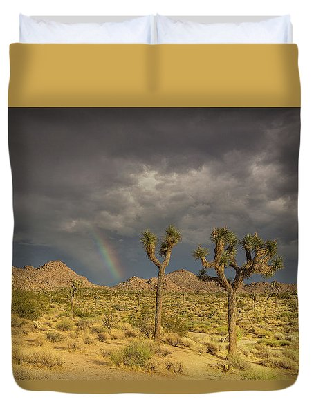 Rainbows Thunderstorms And Sunsets Duvet Cover