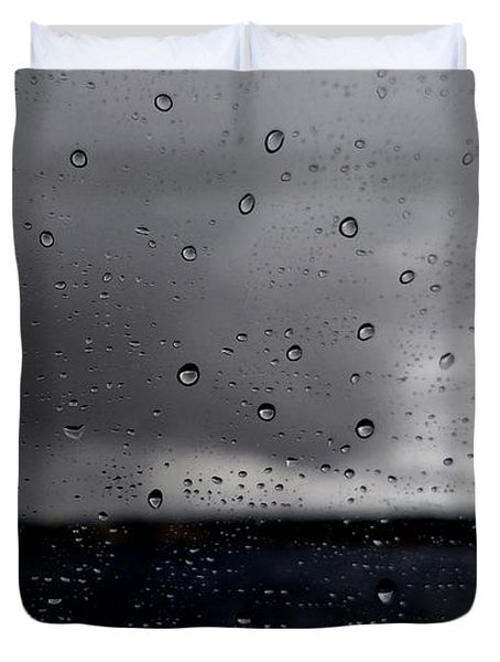 Duvet Cover featuring the photograph Raindrops by Michelle Joseph-Long
