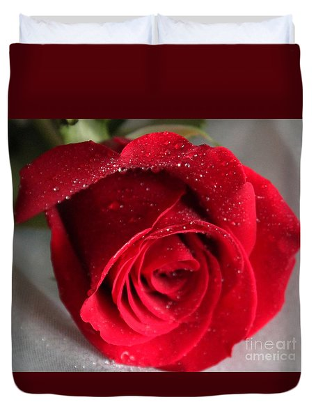 Raindrops On Roses Duvet Cover