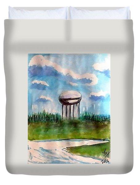 Raines Road Watertower Duvet Cover