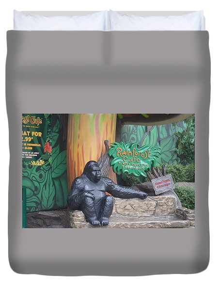 Rainforest Cafe Duvet Cover