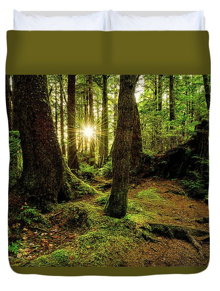 Rainforest Path Duvet Cover by Chad Dutson