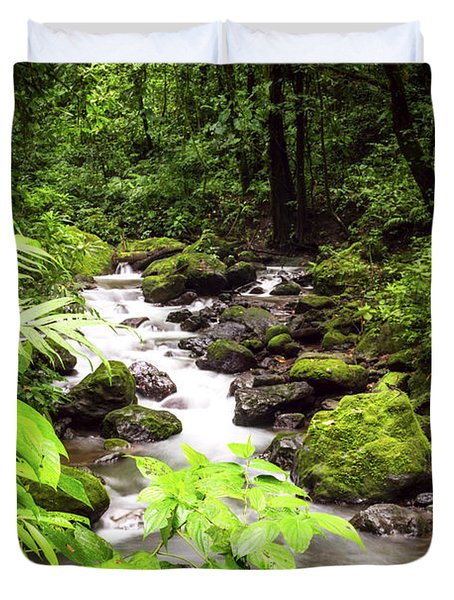 Rainforest River Duvet Cover