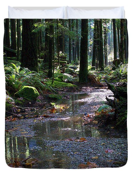 Duvet Cover featuring the photograph Rainforest Trail 2 by Sharon Talson