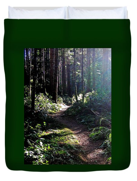 Rainforest Trail Duvet Cover by Anne Havard