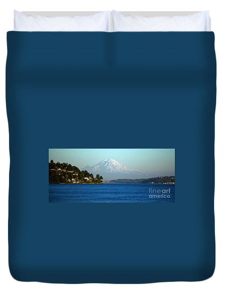 Rainier Vista Duvet Cover by Mike Reid