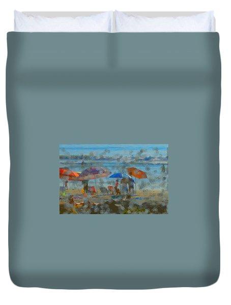 Raining Abstract Duvet Cover