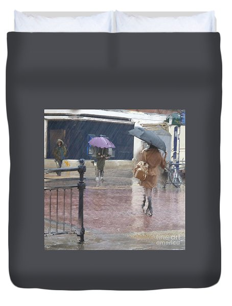 Duvet Cover featuring the photograph Raining All Around by LemonArt Photography