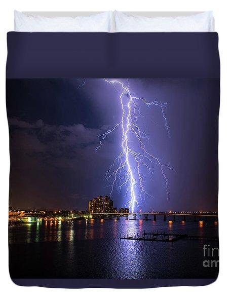 Raining Bolts Duvet Cover