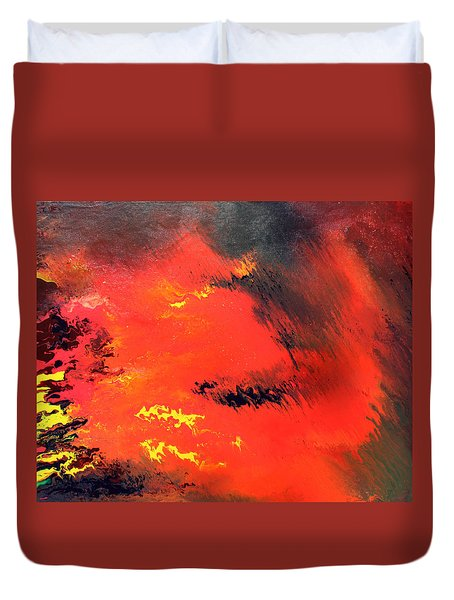 Raining Fire Duvet Cover