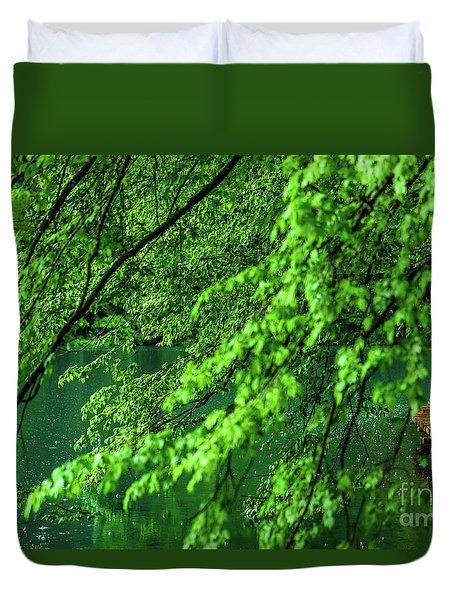 Raining Serenity - Plitvice Lakes National Park, Croatia Duvet Cover