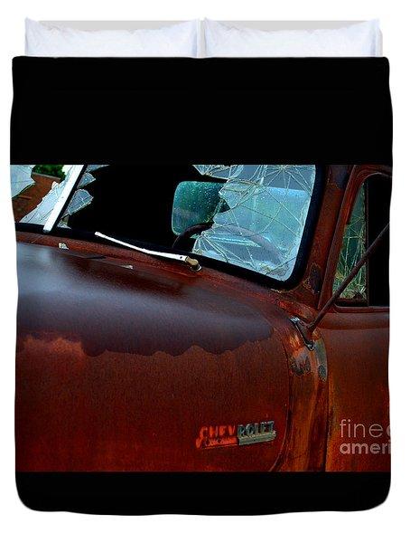 Rainy Day Chevrolet 4 Duvet Cover
