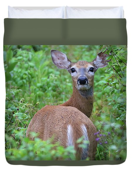 Rainy Day Doe Duvet Cover