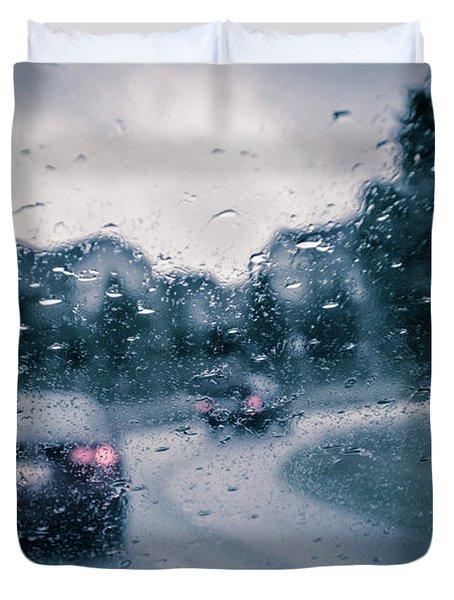 Rainy Day In June Duvet Cover
