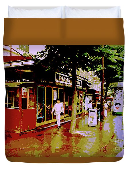 Rainy Day In Paris Duvet Cover
