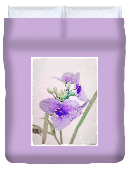 Rainy Day In The Garden Duvet Cover by Tim Good