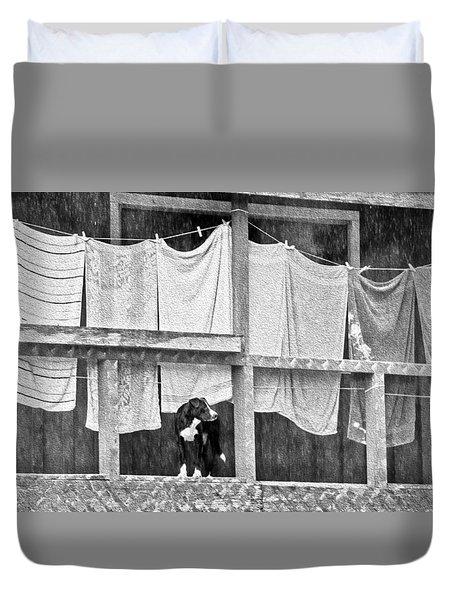 Rainy Day Laundry Duvet Cover