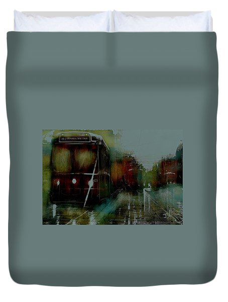 Rainy Day On The Ttc Duvet Cover by Jim Vance