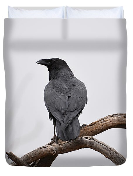 Rainy Day Raven Duvet Cover