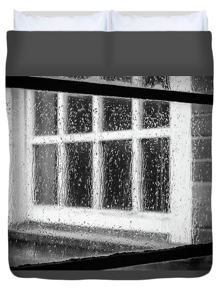 Rainy Day Window Duvet Cover