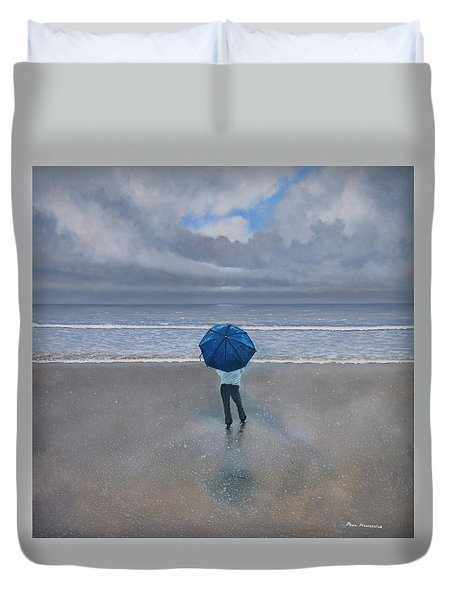 Rainy Days And Mondays Duvet Cover by Paul Newcastle