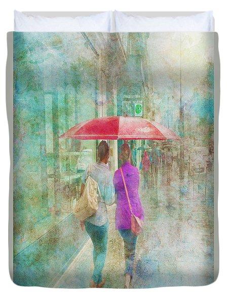 Rainy In Paris 1 Duvet Cover