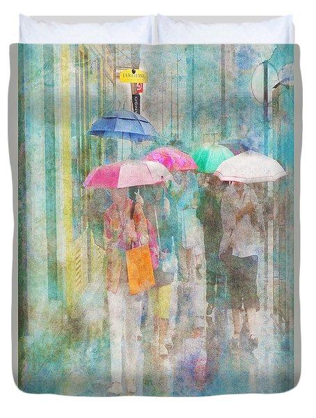Rainy In Paris 2 Duvet Cover