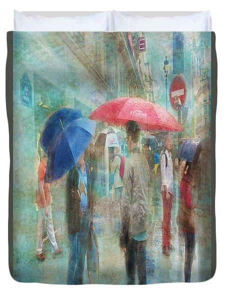 Rainy In Paris 6 Duvet Cover