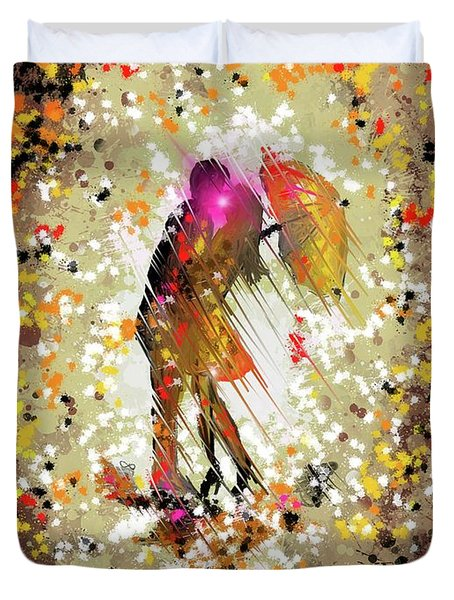 Rainy Love Duvet Cover