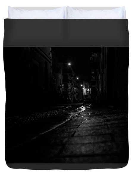 Rainy Night Duvet Cover