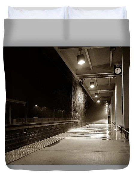 Rainy Night In Baltimore Duvet Cover