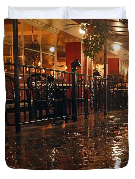 Rainy Night In Gainesville Duvet Cover