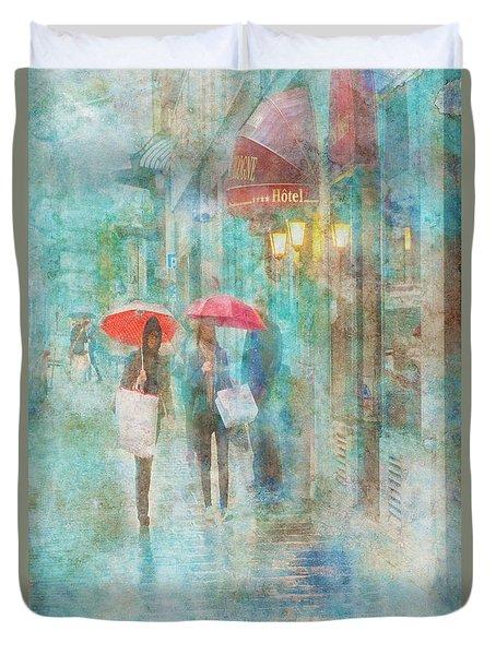 Rainy In Paris 4 Duvet Cover