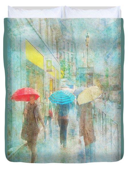 Rainy In Paris 5 Duvet Cover